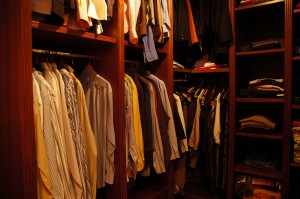 The closet of the master bedroom (3rd floor)