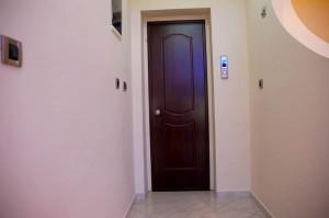 The elevator door on the second floor