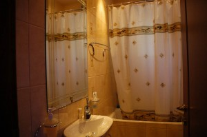The private bathroom of the guest room
