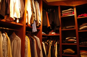 The closet of the master bedroom