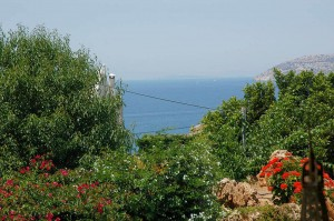 The great view to the Aegean sea from the playroom window